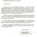 Convite para ministrar palestra na PUC de Porto Alegre, 1998