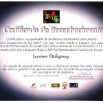 Certificado de Reconhecimento AES Sul, 2000