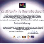 Certificado de Reconhecimento AES Sul, 2001