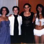 """Com atrizes da peça """"As Sereias da Zona Sul"""""""